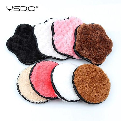 3PCS Reusable Makeup Remover Pads Cotton Wipes Microfiber Make Up Removal Sponge Cotton Cleaning Pads Tool Washable Sponge Pad