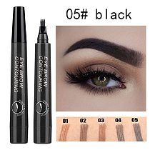 1Pcs Women Makeup Sketch Liquid Eyebrow Pencil Waterproof Brown Eye Brow Tattoo Dye Tint Pen Liner Long Lasting Eyebrow TXTB1