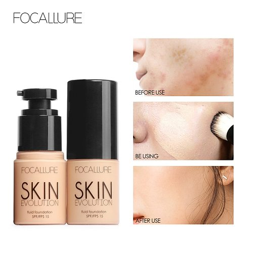 FOCALLURE Face liquid foundation oil control Moisturizer full coverage concealer matte primer base cream foundation makeup