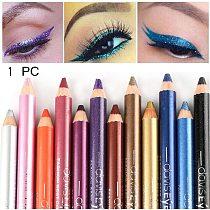 1PC New Glitter Eyeliner Pencil with Sharpener Longlasting Highlighter Eyeliner Pen Waterproof Eyeshadow Pen Eye Cosmetic Tool