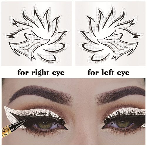 Non-woven Eye Makeup Stencils Eyeliner Template Shaping Tool Eyebrows Eye Shadow Makeup Template Tool Stickers Card Lazy Useful