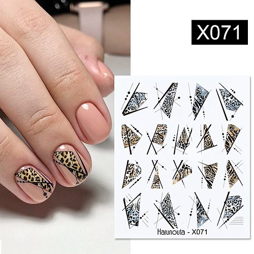 Harunouta Nail Water Decals Leopard Snake series Nail Deisgn Water Sliders For Nail Manicures DIY Nails Art Nail Polish Stickers