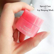 Korea Lip Sleeping Mask Night Sleep Maintenance Moistened Lip Balm the Pink Lips Bleaching Cream Nourish Protect Lips Care 3G