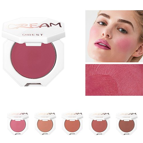 QIBEST Face Matte Blush Palette 6 Color Cheek Blusher Powder Makeup Rouge Mineral Pigment Cosmetics Long Lasting Natural Make Up