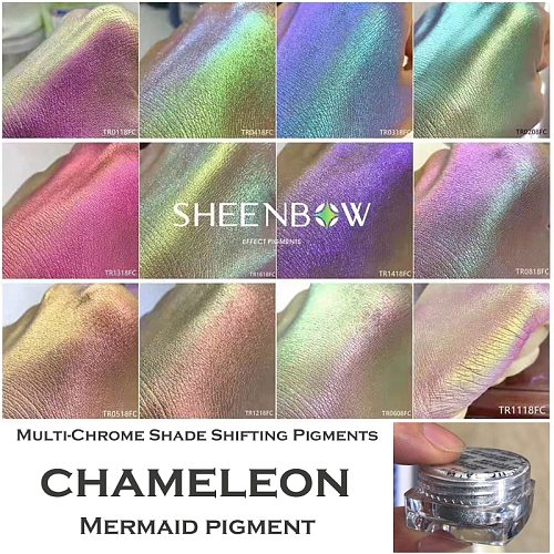 Bewitching Extreme Multichrome Colorshift Chameleon Pigment Eyeshadow Mermaid Powder For Eyeshadow Highlighter Body Nail Art