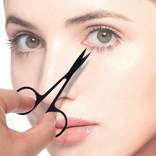 Professional Scissor  For  Eyebrow Nose hair Eyelash Scissors Curved  Makeup Tool