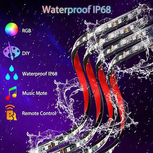 4pcs Car Underglow Light Flexible Strip LED Remote /APP Control Car Led Neon Light RGB Decorative Atmosphere Lamp
