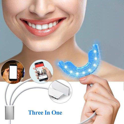 Wholesale Portable Tooth Dental Whitening Device Teeth 4 USB Charge 16 LEDs Blue Lights Whitening Instrument High Quality