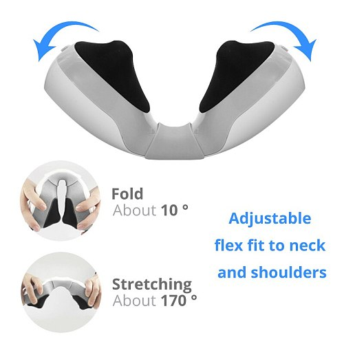 Health Care Relaxation Machine Electric Neck Massager Pulse Back 4 Modes Power Far Infrared Heating Kneading Pain Relief Tool