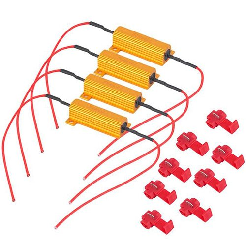 4pcs New 4x 50W 6 ohm Load Resistor For Fix LED Bulb Fast Hyper Flash Turn Signal Blinker