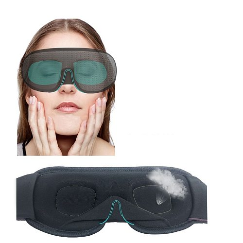 New 3D Sleeping Eye Mask Shading For Sleep Soft Bandage On Eyes Eyeshade Sleeping Aid Travel Eyepatch Sleep Mask Block Out Light