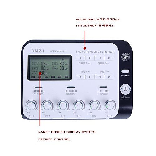 6 Output Channel TENS Electroacupuncture Health Multi-functional Body Relax Acupuncture Stimulation Foot Patch Massage 110-220V