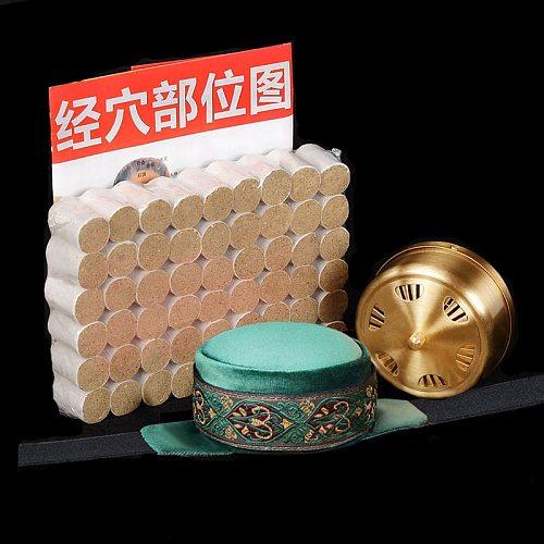 Pure Copper Moxibustion Box Set Therapy Sub-health Women Smokeless Home Moxa Massager For Body  Mini Moxa  Portable  Moxibustioe
