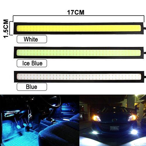 6 pieces Super Bright 17CM LED COB Fog Bulb Car DRL LED Strip Daytime Running Light bar 12V 6500K Auto Interior Styling Lamp