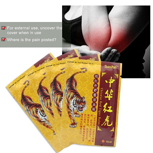 8/16/32pcs Sumifun Chinese Red Tiger Balm Plaster Muscle Ache Neck Back Joint Pain Relief Patches Knee Body Medical Plasters