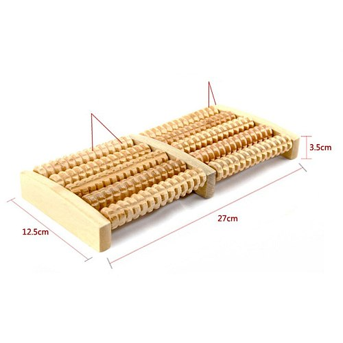 5 Raw Wooden Foot Roller Foot Massager Stress Relief Spa Relax Massager Anti Cellulite Pain Relief Foot Massage Health Care Tool