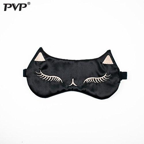 PVP Pure Silk Double-Side Shading EyeShade Sleeping Eye Mask Cover Eyepatch Blindfolds Eyeshade Health Sleep Shield Light party