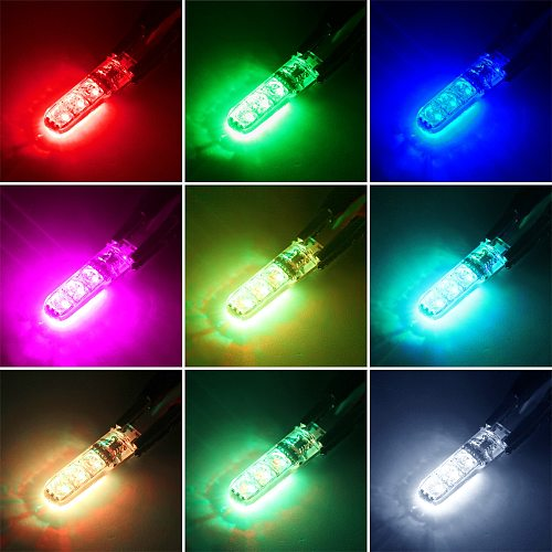 Universal T10 RGB LED 5050 SMD Car Clearance Lights 12V W5W Wedge Side Auto Tail Parking Lamp With Remote Control