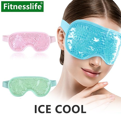 Sleeping Eye Mask with Eye Coolingjel Ice Gel for Sleep Cover Cold Pack Reusable Beads for Girl Cold Therapy Soothing Relaxing