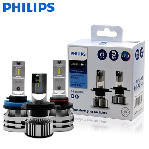 Philips Ultinon Essential G2 LED H1 H4 H7 H8 H11 H16 HB3 HB4 H1R2 9003 9005 9006 9012 6500K Car Fog Lamp (2 Pack)