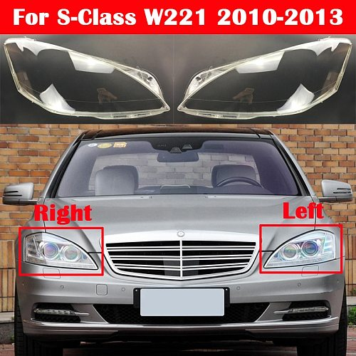 Car Headlight Headlamp Light Glass Lens Case Auto Shell Cover For Mercedes-Benz S-Class W221 S280 S300 S350 S500 2010-2013