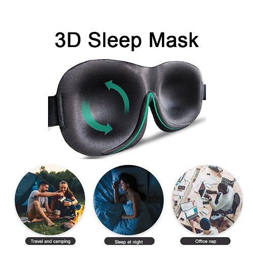 3D Upgraded Sleep Mask Total Blackout Eyeshade Sleeping Aid For Travel Rest Blindfold Soft Sleeping Eye Mask Women Men Eyepatch