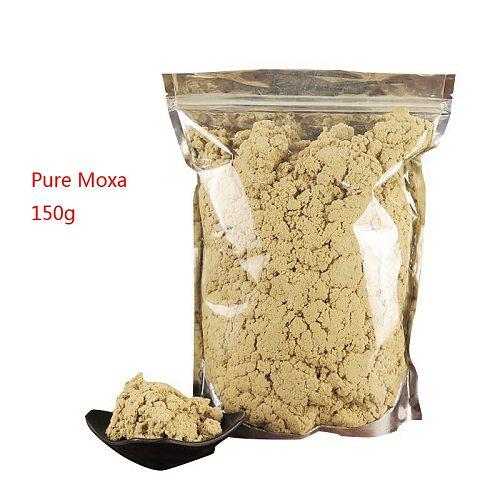 SHARE HO 40:1 Pure Moxa Artemisia Wormwood Burner Moxibustion Acupuncture Point Warm Heating Therapy Chinese Moxa Mugwort 150g
