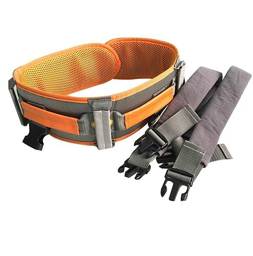 The old man walks with a walking belt safety restraint belt nursing lift shift belt get up in bed and recover
