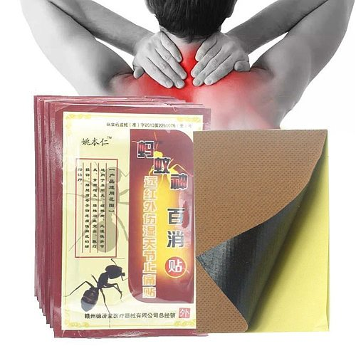 8pcs/Bag Black Ants Pain Relief Patch Body Orthopedic Arthritis Plasters Muscle Back Ointment Joints Patch Pain Removal