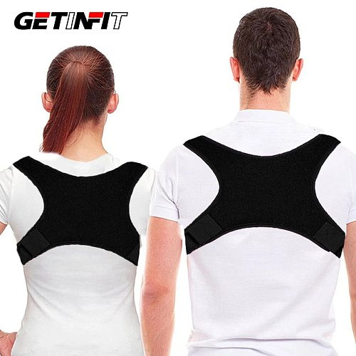 Getinfit New Adjustable Back Posture Brace Support Belt Corrector Clavicle Back Shoulder Lumbar Posture Correction Corrector