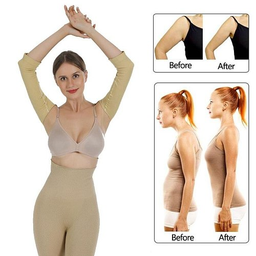 M/L Posture Correction Harness Calories Off Back Shoulder Corrector Lift Shapers Massage Arm Control Shapewear Sleeves Weight