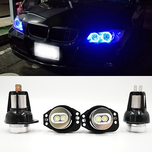 2Pcs For BMW E60 E61 E63 E64 E70 X5 E71 X6 E82 E87 E89 Z4 E90 E91 M3 Canbus Error Free LED Angel Eyes Marker Lights Bulbs
