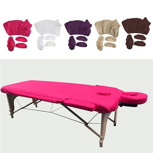 4pcs/set Professional Salon Acupuncture Massage Table Bed Fitted Sheets Pad Face Cradle Hand Pillow Cover Set Kit