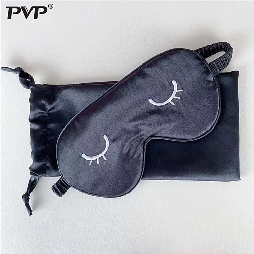 1pcs Eye Cover Silk Sleep Eye Mask Relax Sleeping Padded Shade Patch Eyemask Blindfolds Women Men Travel Sleep masks for relax