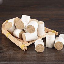 1 Set of 54pcs Smokeless Moxa Bar Handmade 10/1 Natural Moxa Sticks Moxa Rolls for Moxibustion