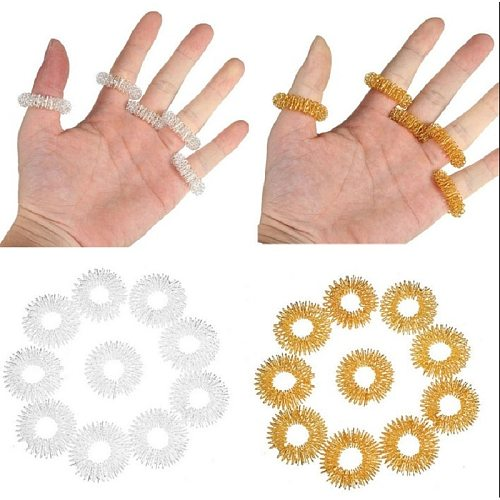 2/5Pcs Hot Sale Finger Massage Ring Acupuncture Ring Health Care Body Massager Relax Hand Massage Finger lose Weight