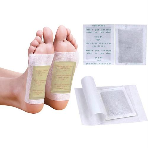 400pcs/(100 bags(200pcs) patches+200pcs Adhesives) Detox Foot Patches Pads Body Toxins Feet Slimming Cleansing Foot Care Tool