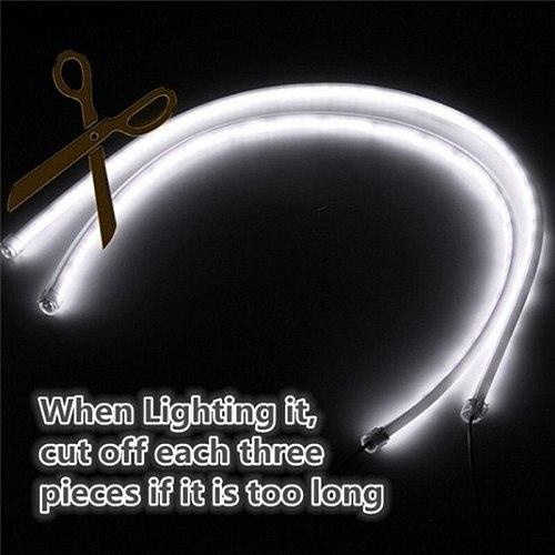 30CM DRL Flowing LED strip car Running light Angel Eyes LED Tube Strip Daytime Running Lights Flexible LED