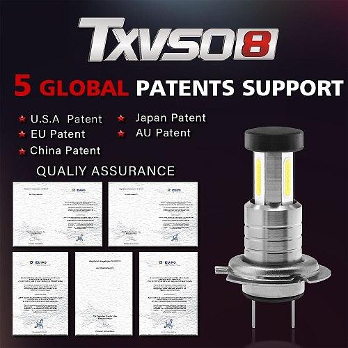 TXVSO8 2020 Led H7 Headlight 6000K White Light Lamp Universal COB Mini Car Bulbs 110W/set 26000LM Focos Led Automovil