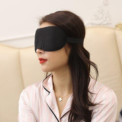 3D Sleep Mask Natural Sleeping Eye Mask Eyeshade Cover Shade Eye Patch Women Men Soft Portable Blindfold Travel Eyepatch 1Pcs