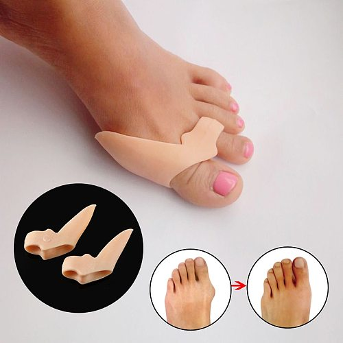 Silicone Toes Separator Bunion Bone Ectropion Adjuster Toes Outer Appliance Pedicure Foot Care Tools Hallux Valgus Corrector