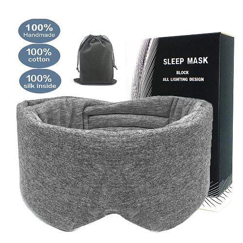 100% Cotton Silk Sleep Mask Blindfold Eye Cover Eye Patch Women Men Soft Portable Blindfold Travel Eyepatch Sleeping Eye Mask