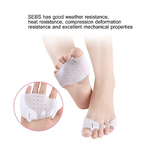 Tcare 1Pair Foot Care Brace Support Gel Foot Pads To Help Relieve Ballet Hallux Valgus Tailor's Bunion and Forefoot Pain Support