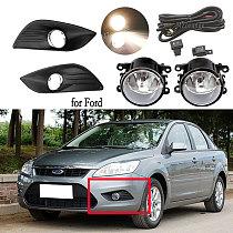 LED fog lights for Ford Focus sedan 2009-2011 fog light headlight covers fog lamps frame halogen Grille Harness switch wires kit