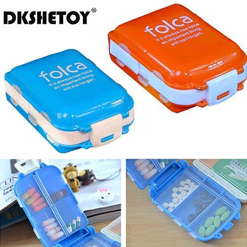 Folding Pill Case Medicine Drug Pills organizer storage Boxs Portable pharmacy Capsule Tablet Container Empty pillbox Cases