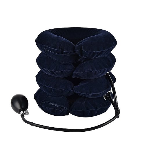 3/4 Layer Inflatable Air Cervical Neck Traction Device Soft Neck Collar Pillow Pain Stress Relief Neck Posture Stretching Brace