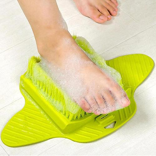 Shower Foot Brush Scrubber Bath Shoe Plastic Bath Feet Massage Slippers Brush Scrub Exfoliating Spa Shower Remove Dead Skin