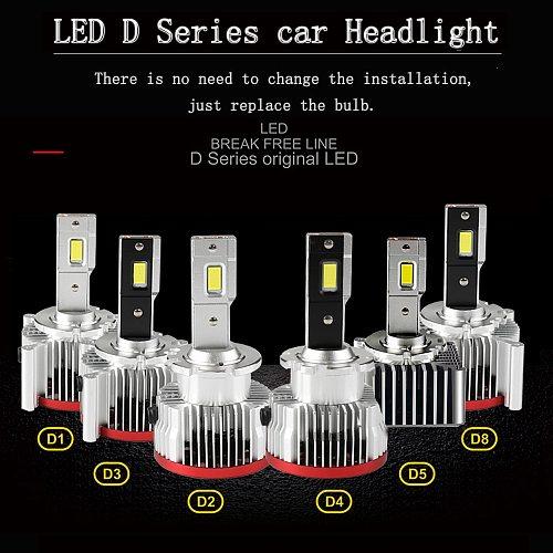 2Pcs Car Light D1S D4S D2S LED Canbus Headlight D3S D1R D2R D3R D4R D5S D8S Bulb 70W 17200LM Kit to Replace HID Conversion Lamps