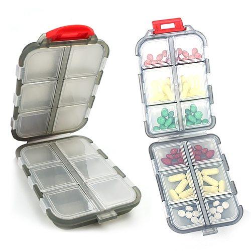New Travel convenient medicine Pill Box 12 Grids pills dispenser pill organizer Tablet Pillbox Case Container Drug Divider