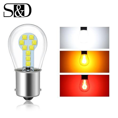 Red Amber White 1156 BA15S P21W LED 1157 BAY15D P21/5W LED Bulb R5W R10W Car Turn Signal Light S25 Auto Brake Light Lamps 12V